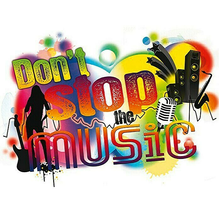 Komar Dekosticker (Don't stop the music, Bunt, 100 x 70 cm) - 17721