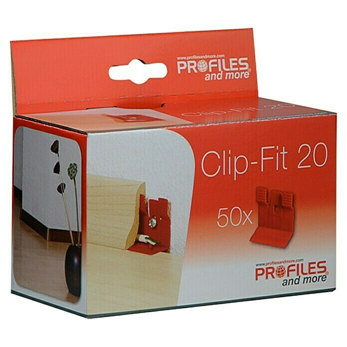 Profiles and more Leistenclip Clip-Fit CH20 (50 Stk.)