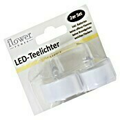 Flower Power LED-Teelicht (Weiß, 2 Stk.)