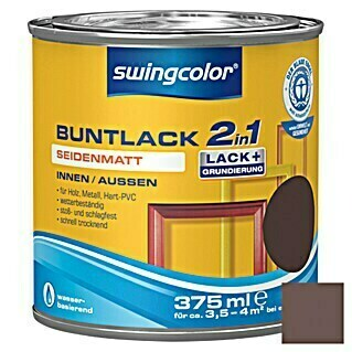 swingcolor 2in1 Buntlack (Schokobraun, 375 ml, Seidenmatt)