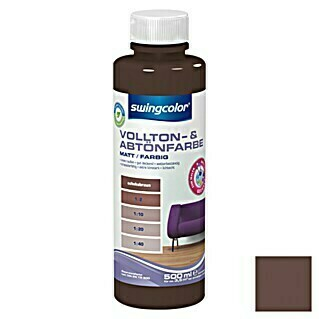 swingcolor Vollton- & Abtönfarbe (Schokobraun, 500 ml, Matt)