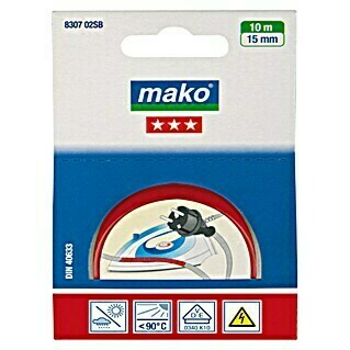 Mako Isolierband (Rot, 10 m x 15 mm)(Rot, 10 m x 15 mm)