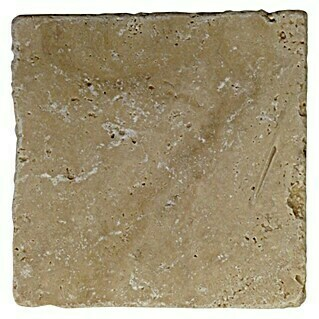 Antikmarmor Travertin Chiaro (10 x 10 cm, Beige, Matt)(10 x 10 cm, Beige, Matt)