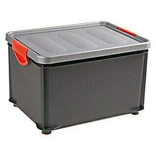 KIS Clipper Box (33 l, Anthrazit/Metall, Mit Deckel)
