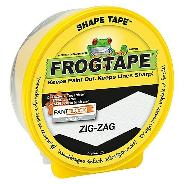 Frogtape Kreativklebeband Shape Tape (Zig-Zag, 22,8 m x 46 mm) - 631-32