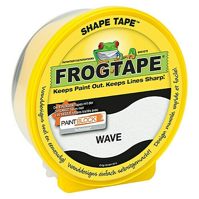 Frogtape Kreativklebeband Shape Tape (Wave, 22,8 m x 46 mm)