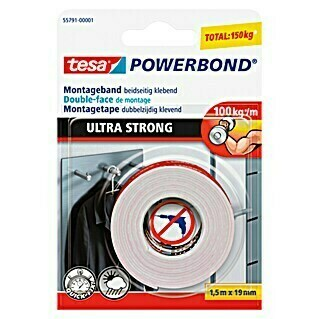 tesa Powerbond Montageband Ultra Strong (1,5 m x 19 mm)
