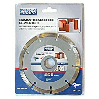 Alpha Tools Diamantdoorslijpschijf (Beton, Schijfdiameter: 230 mm, Boorgat: 22,23 mm)(Beton, Schijfdiameter: 230 mm, Boorgat: 22,23 mm)