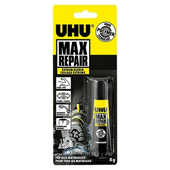 UHU Extrem-Kleber Max Repair (Transparent, 8 g, Tube) -