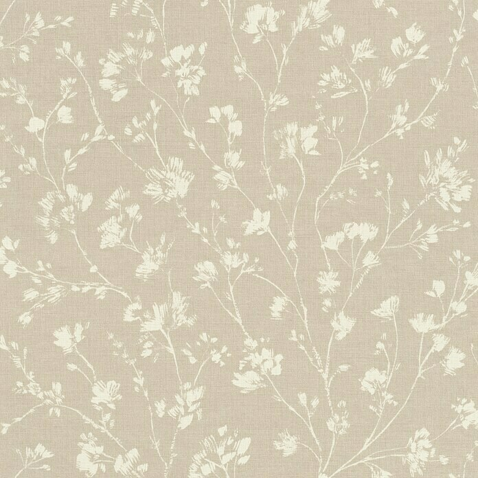 FREUNDIN HOME COLLECTION III Vliestapete (Beige, Floral, 10,05 x 0,53 m)