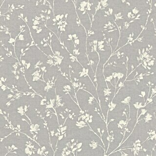 FREUNDIN HOME COLLECTION III Vliestapete (Grau, Floral, 10,05 x 0,53 m)