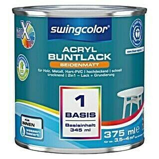 swingcolor Mix Buntlack 2in1 (Basismischfarbe, 375 ml, Seidenmatt)(Basismischfarbe, 375 ml, Seidenmatt)