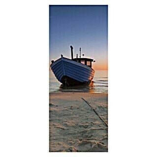 SanDesign Alu-Verbundplatte Boat on sea (100 x 250 cm)