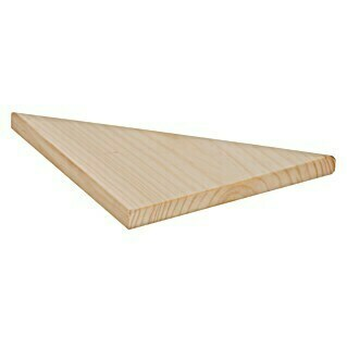 Astigarraga Triangle Estante de pared (L x An x Al: 35 x 25 x 25 cm, Madera de pino)