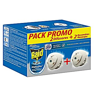 Raid Producto anti-insectos eléctrico líquido Night&Day pack (2 uds.)(2 uds.)