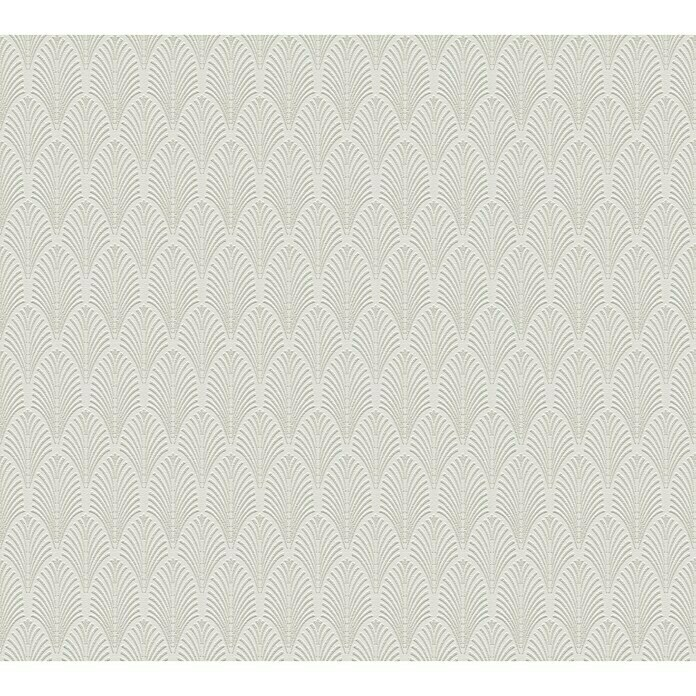 AS Creation Pop Style Vliestapete Art Deco Glitzer (Creme, Grafisch, 10,05 x 0,53 m) -