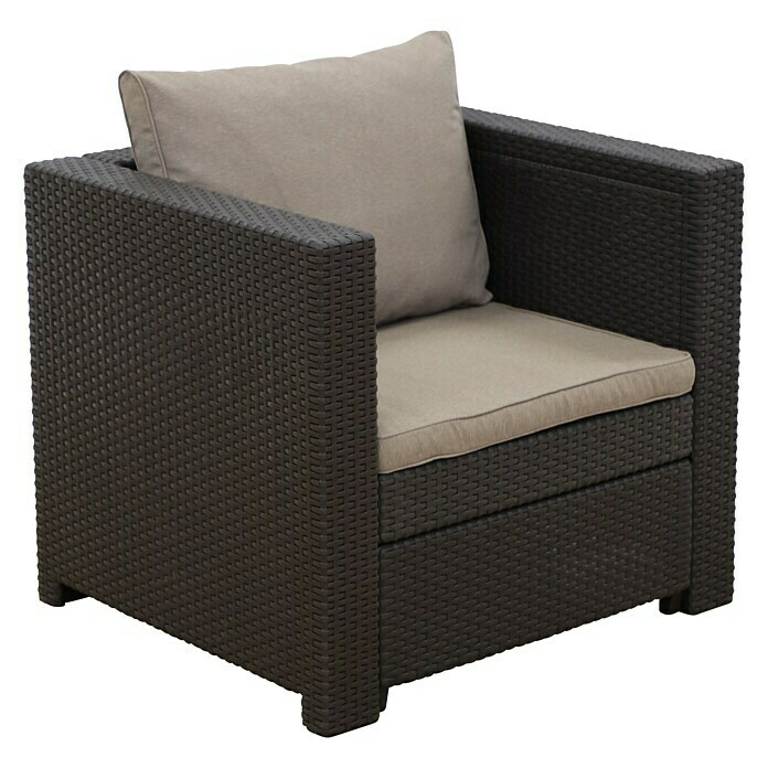 Keter Loungemöbel-Set Provence (3-tlg., Max. Personenzahl: 8, Polyrattan, Braun/Cappuccino)