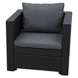 Keter Loungesessel Provence (Polyrattan, Anthrazit)(Polyrattan, Anthrazit)