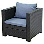 Keter Loungesessel Provence (Polyrattan, Anthrazit/Blau)