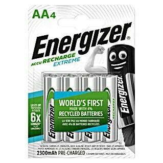 Energizer Baterija Rechargeable Extreme AA (Mignon AA, 1,2 V, 4 Kom.)