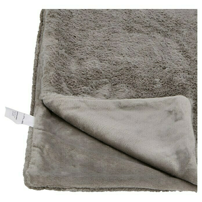Decke Happy (Taupe, 200 x 150 cm, 100 % Polyester)