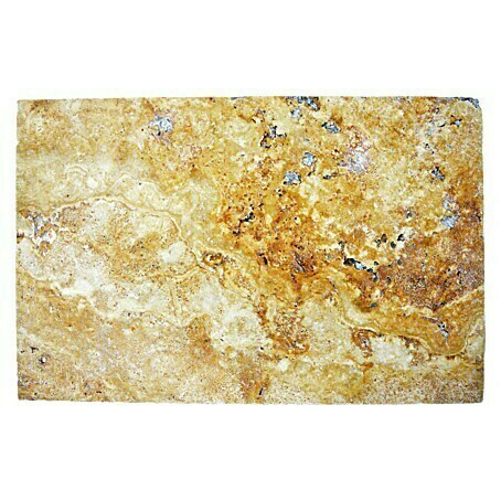 Antikmarmor Travertin (40,6 x 61 cm, Gold, Matt)