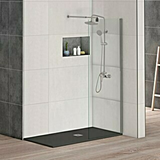 Mampara de ducha fija Walk-In Nice (An x Al: 120 x 195 cm, 6 mm, Cromo)(An x Al: 120 x 195 cm, 6 mm, Cromo)