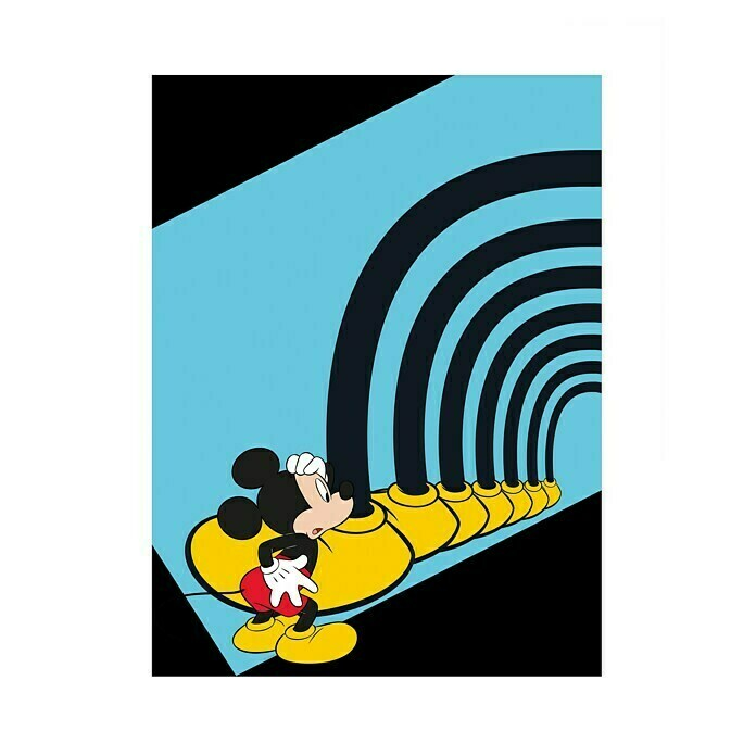 Komar Disney Edition 4 Wandbild Mickey Mouse Foot Tunnel (30 x 40 cm, Vlies)