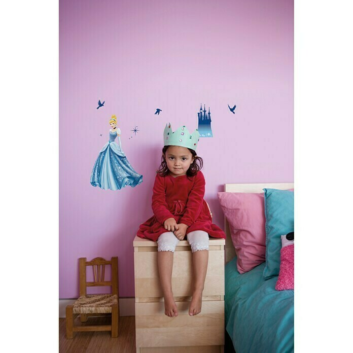 Komar Disney Edition 4 Dekosticker Princess Dream (10-tlg., Bunt)