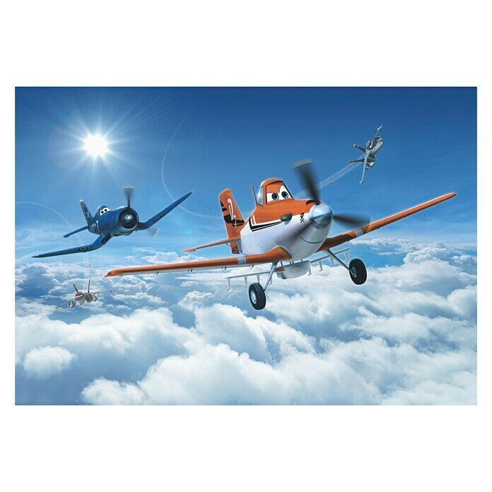 Komar Disney Edition 4 Fototapete Planes above the Clouds (8-tlg., 368 x 254 cm, Papier) -