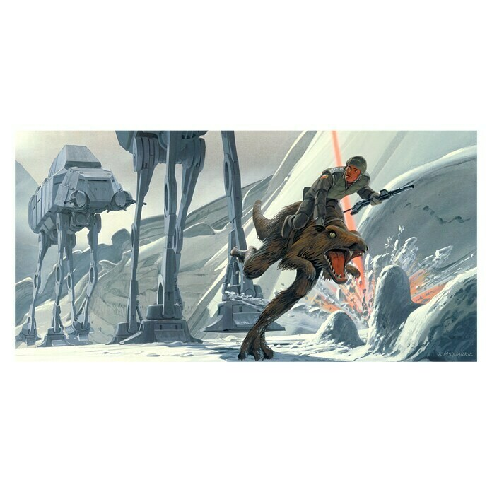 Komar Star Wars Fototapete RMQ Hoth Battle Ground (10-tlg., 500 x 250 cm, Vlies)