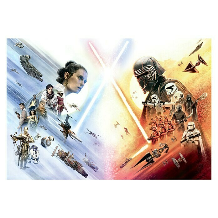 Komar Star Wars Fototapete EP9 Movie Poster Wide (8-tlg., 368 x 254 cm, Papier) -