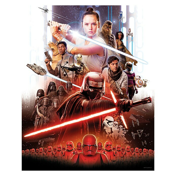 Komar Star Wars Wandbild Movie Poster Rey (30 x 40 cm, Vlies) -
