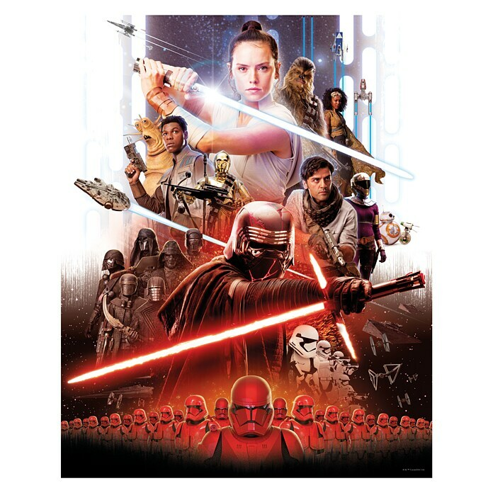 Komar Star Wars Wandbild Movie Poster Rey (40 x 50 cm, Vlies) -
