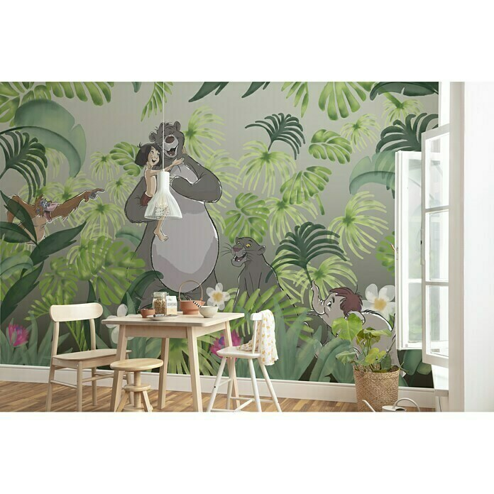 Komar Disney Edition 4 Fototapete Welcome to the Jungle (400 x 280 cm, Vlies)