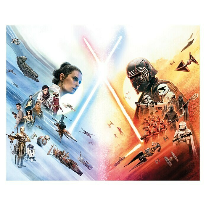 Komar Star Wars Wandbild Movie Poster (50 x 40 cm, Vlies) -