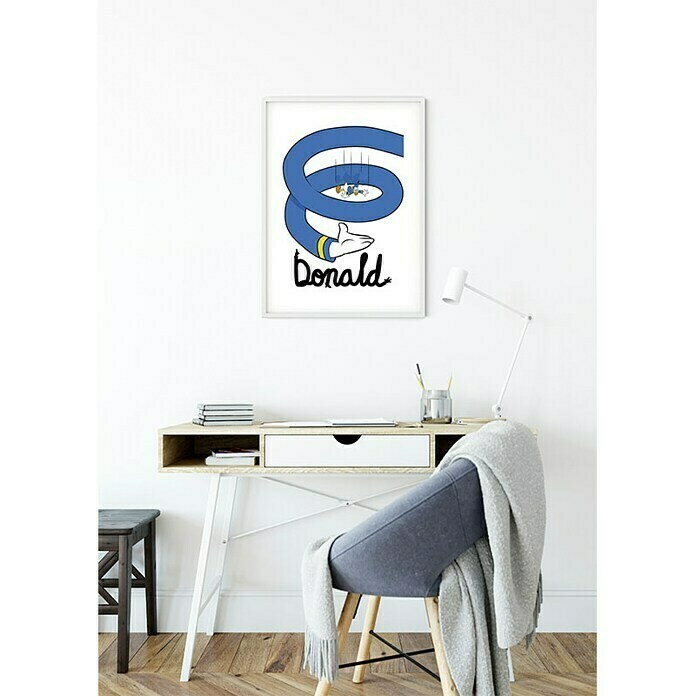Komar Disney Edition 4 Wandbild Donald Duck Spiral (40 x 50 cm, Vlies)
