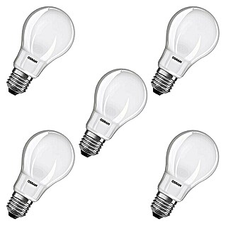 Osram LED-Leuchtmittel-Set Base Classic A (5 Stk., 9 W, E27, Warmweiß, Matt)(5 Stk., 9 W, E27, Warmweiß, Matt)
