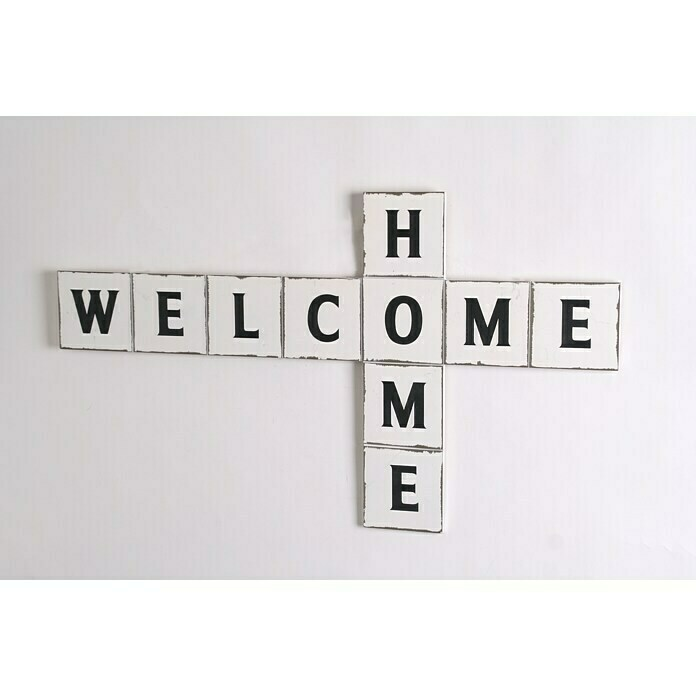 Holzbild Welcome Home (B x H: 70 x 40 cm) -