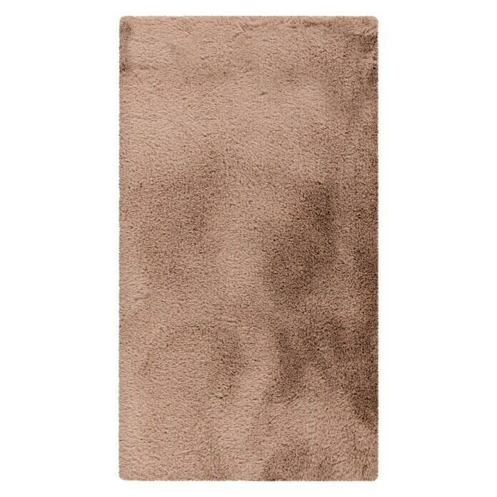 Badteppich Happy (50 x 90 cm, Taupe, 100% Polyester) -
