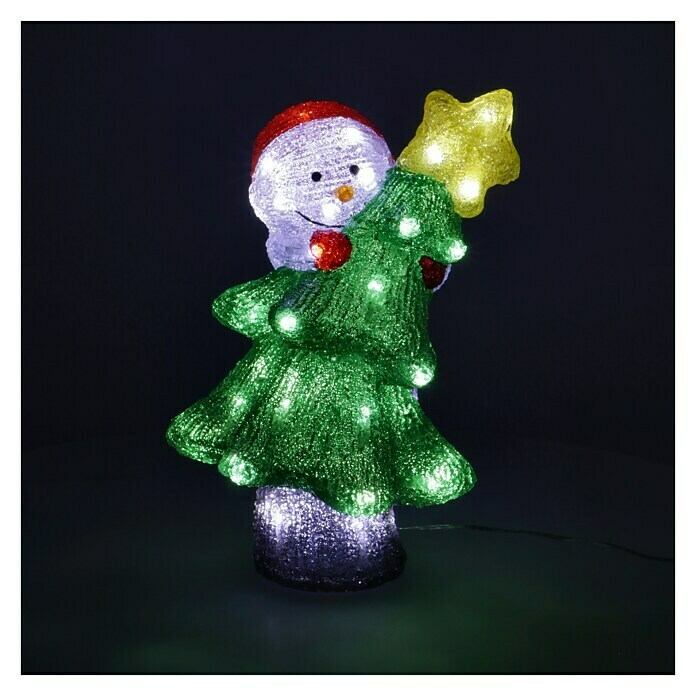 LED-Weihnachtsleuchte (Rot, Acrylfaser, L x B x H: 25 x 20,5 x 35,5 cm)