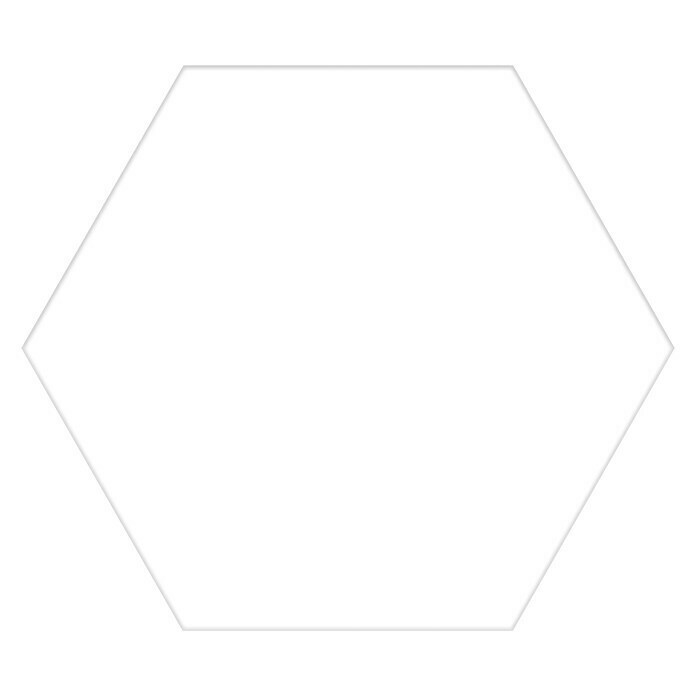 Feinsteinzeugfliese Hexagon Basic White (25 x 22 cm, Weiß, Glasiert) -