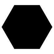 Feinsteinzeugfliese Hexagon Basic Black (25 x 22 cm, Schwarz, Glasiert)
