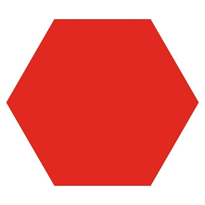 Feinsteinzeugfliese Hexagon Basic Red (25 x 22 cm, Rot, Glasiert) -