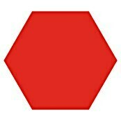 Feinsteinzeugfliese Hexagon Basic Red (25 x 22 cm, Rot, Glasiert)
