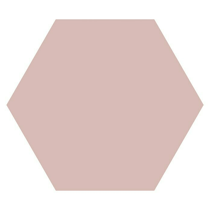 Feinsteinzeugfliese Hexagon Basic Rose (25 x 22 cm, Rosa, Glasiert) -
