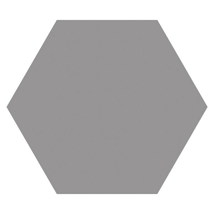 Feinsteinzeugfliese Hexagon Basic Grey (25 x 22 cm, Grau, Glasiert) -