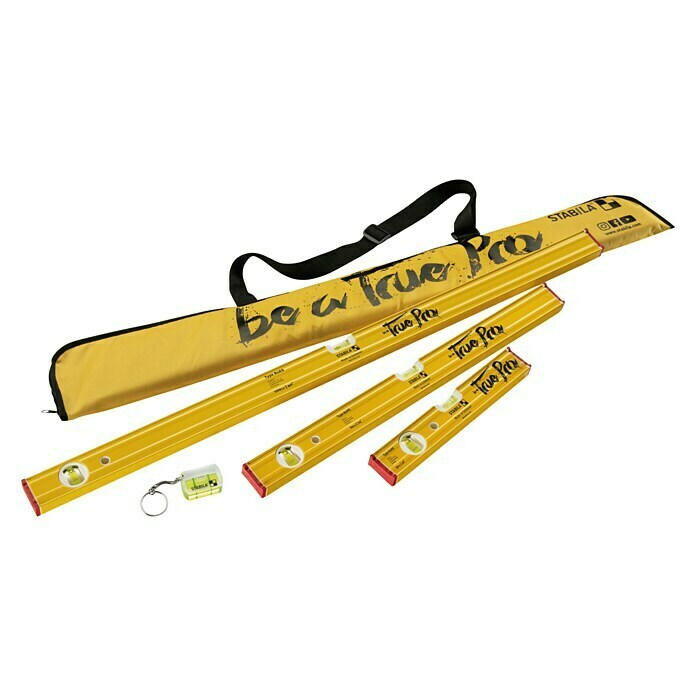 Stabila Wasserwaagen-Set True Pro Edition (5-tlg., Messgenauigkeit: Normallage +/- 0,5 mm/m) -