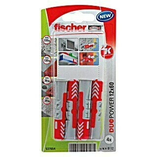 Fischer Duopower Set univerzalnih tipli (Promjer tiple: 12 mm, Duljina tiple: 60 mm, 4 kom, Najlon)