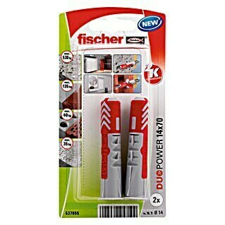 Fischer Duopower Set univerzalnih tipli (Promjer tiple: 14 mm, Duljina tiple: 70 mm, 2 kom, Najlon)
